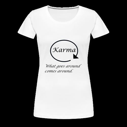 Karma - Premium T-skjorte for kvinner
