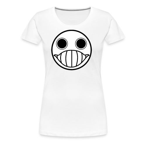 Crazy Cringe Smiley (Schwartz) - Frauen Premium T-Shirt