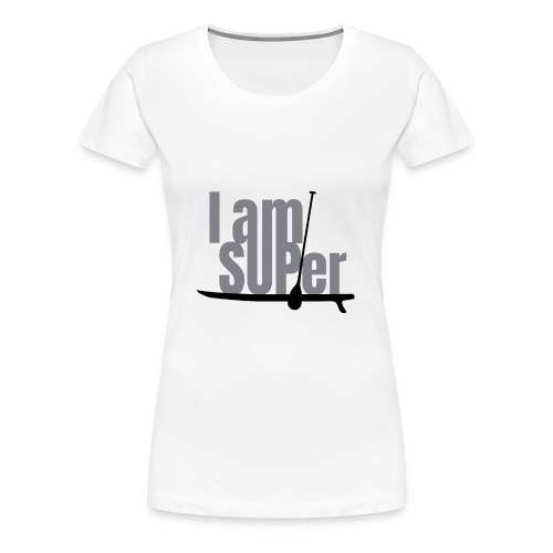 IamSUPer 002 design blackgrey Artboard 1 - Frauen Premium T-Shirt