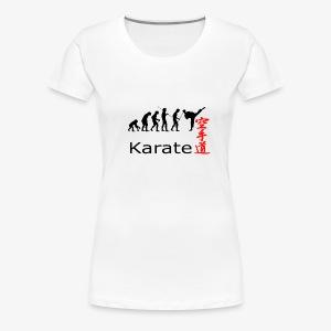 Karate Silhouette - Frauen Premium T-Shirt