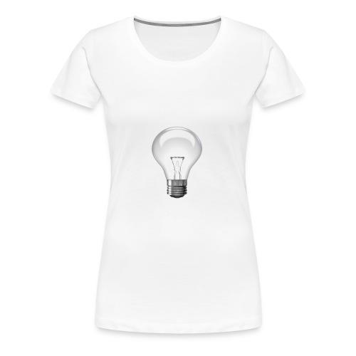 Glühlampe - Frauen Premium T-Shirt