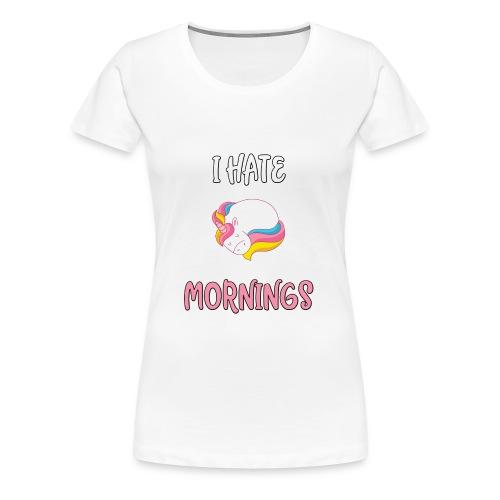 Sød enhjørningst-shirt - Dame premium T-shirt