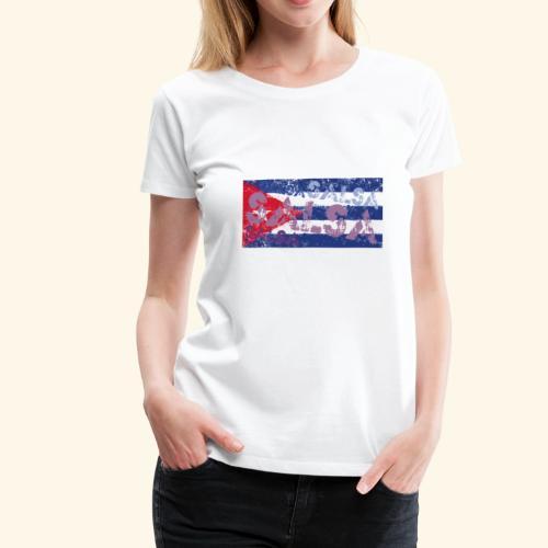 Cuban salsa and Cuban flag dance shirt - Women's Premium T-Shirt