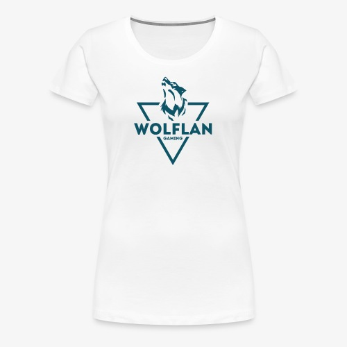 WolfLAN Logo Gray/Blue - Women's Premium T-Shirt