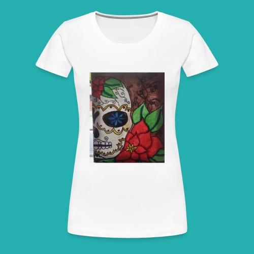 flower-skull - Women's Premium T-Shirt