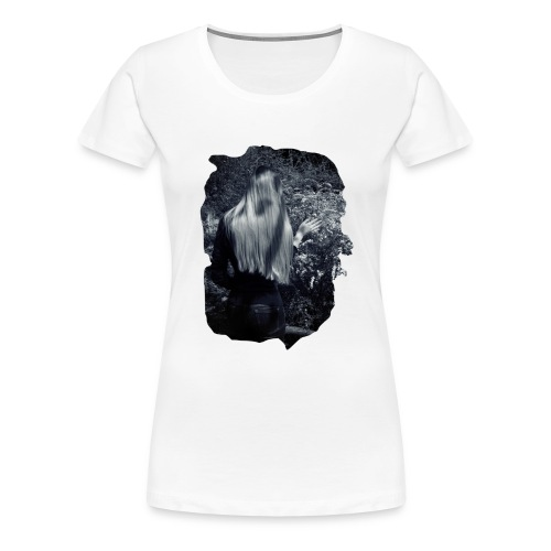 Girl and flowers - Frauen Premium T-Shirt