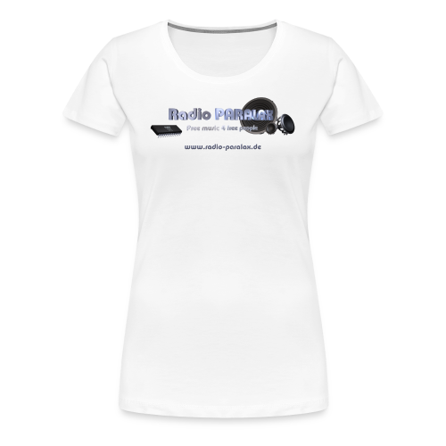 Radio PARALAX Facebook-Logo mit Webadresse - Frauen Premium T-Shirt