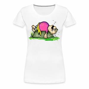 Die schnarchende Pummelfee - Frauen Premium T-Shirt