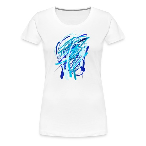 Blaue fünferkonstellation - Frauen Premium T-Shirt