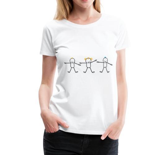 trois frère et soeur enfants (cheveux personnalisa - T-shirt Premium Femme