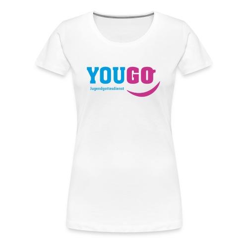 YouGo Blau-Magenta - Frauen Premium T-Shirt
