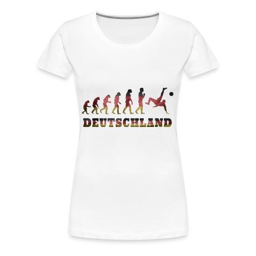 Evolution Fussball Deutschland - Frauen Premium T-Shirt