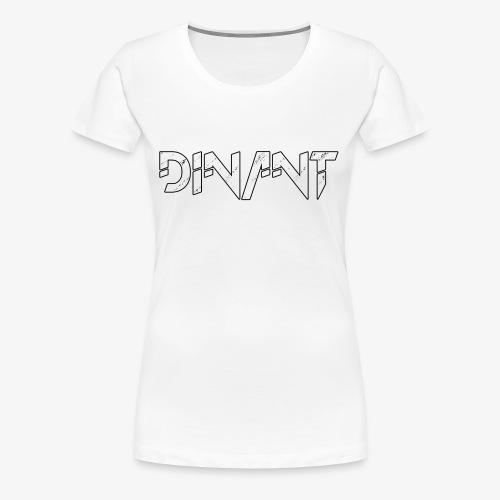 Dinant logo wit - Vrouwen Premium T-shirt