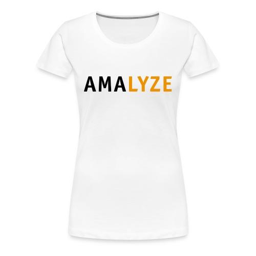 AMALYZE LOGO BLACK - Frauen Premium T-Shirt