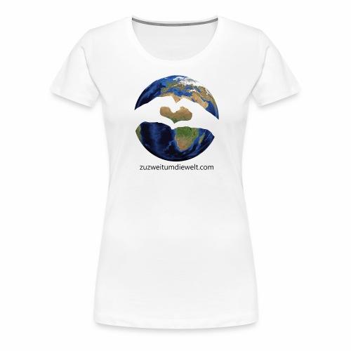 Zu zweit um die Welt: Logo mit Schriftzug - Frauen Premium T-Shirt