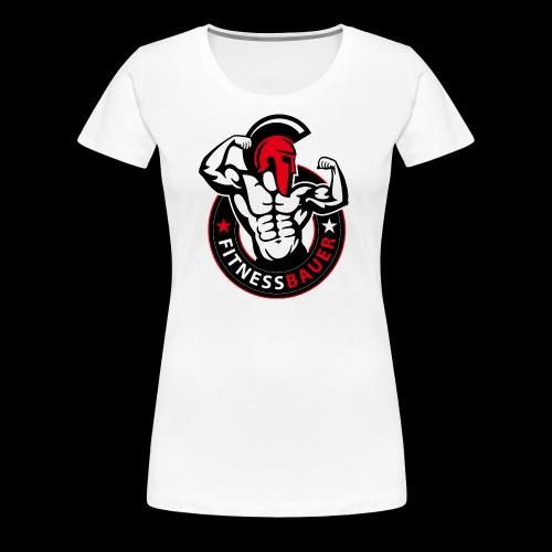 FitnessBauer in Rot - Frauen Premium T-Shirt