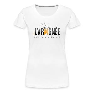 L'ARAIGNÉE, logo noir - T-shirt Premium Femme