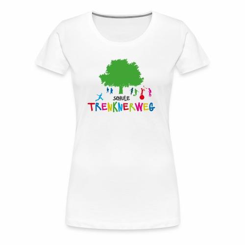 Schulkleidung Schule Trenknerweg buntes Logo - Frauen Premium T-Shirt
