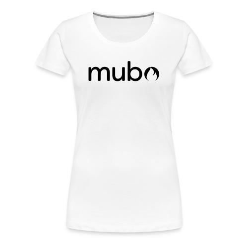mubo Logo Word Black - Frauen Premium T-Shirt
