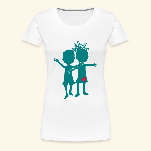 Logo Zweifarbig - Frauen Premium T-Shirt