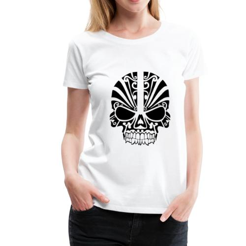 tribal skull - Frauen Premium T-Shirt