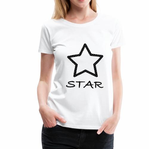 Star Stern schwarz black - Frauen Premium T-Shirt