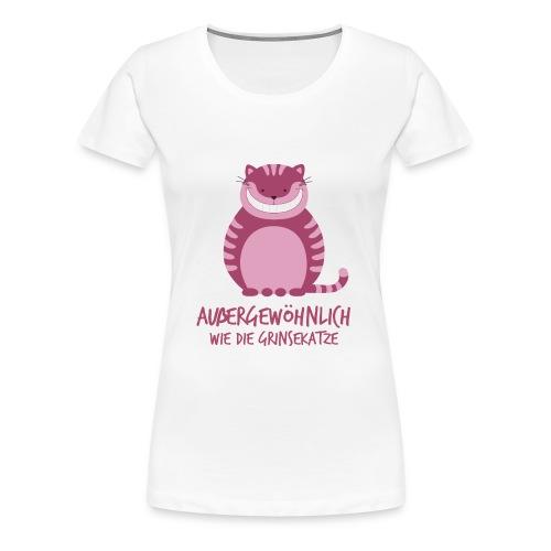 Grinsekatze mit Spruch - Frauen Premium T-Shirt