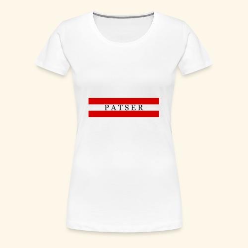 PATSER RODE GESTREEPTE - Vrouwen Premium T-shirt