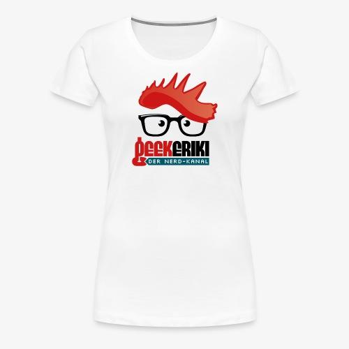 Geekeriki Logo (heller Hintergrund) - Frauen Premium T-Shirt