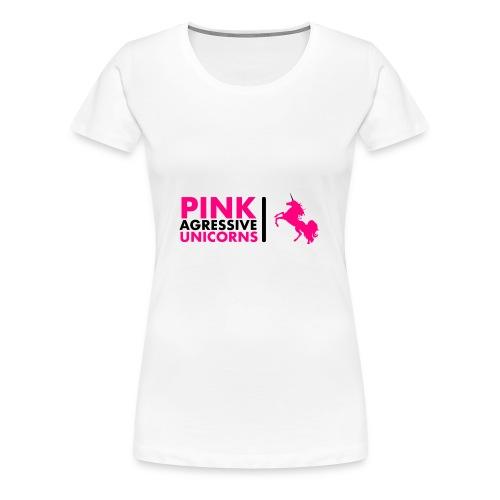 PINK AGRESSIVE UNICORNS - Frauen Premium T-Shirt
