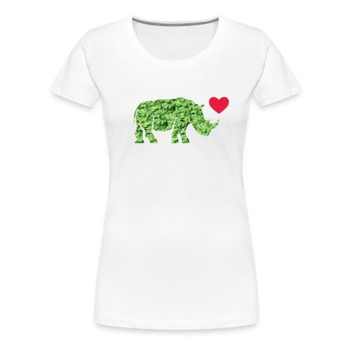 Russell Rhino Green Leaf - Women's Premium T-Shirt