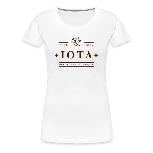 Iota Buy Sleep Hodl Repeat - Frauen Premium T-Shirt