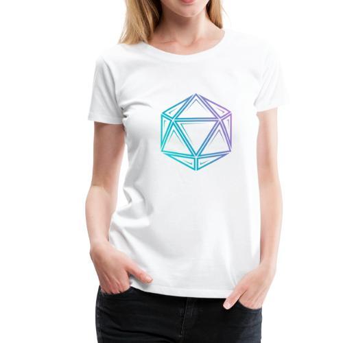 Tribal d20 fade - donjons et dragons dnd - T-shirt Premium Femme