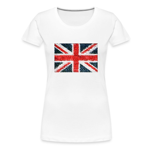 Union Jack Brick Wall - Women's Premium T-Shirt