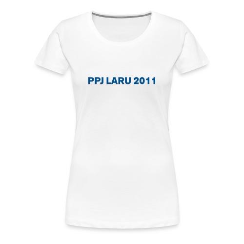 Teksti ilman seuran logoa - Naisten premium t-paita