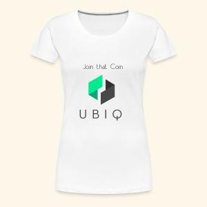 UBIQ join that coin - Frauen Premium T-Shirt