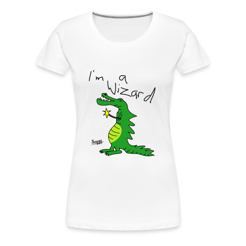 Lizard Wizard - Frauen Premium T-Shirt