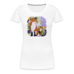 Fox and Cub Design - Women's Premium T-Shirt