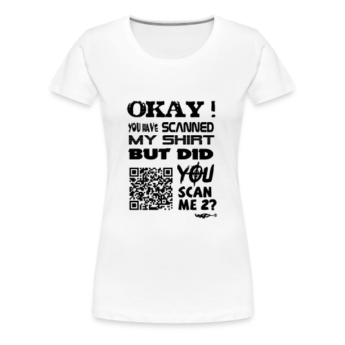 QR shirt for nosy people - Vrouwen Premium T-shirt