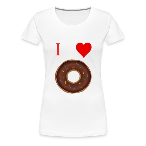 I ♥ donuts | T-shirt | Tiener/Man - Vrouwen Premium T-shirt