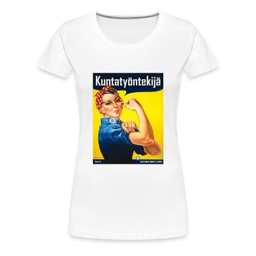 Kuntatyöntekijä hiirimatto (Rosie the Riveter) - Naisten premium t-paita