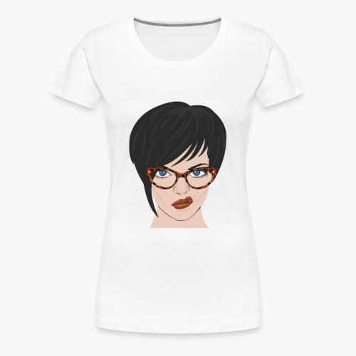 mujer_con_gafas - Camiseta premium mujer