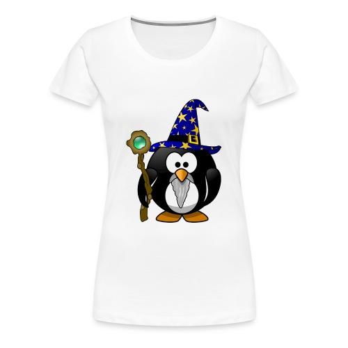 Gandalf der Pinguin mit Zauberstab! Geschenk - Frauen Premium T-Shirt