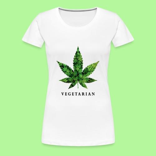Weed Leaf Vegetarian T-shirt - Women's Premium T-Shirt