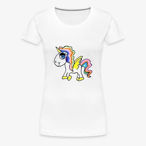 Buntes lässiges Einhorn - Frauen Premium T-Shirt