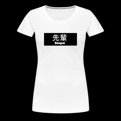Senpai - Schriftzug - Frauen Premium T-Shirt