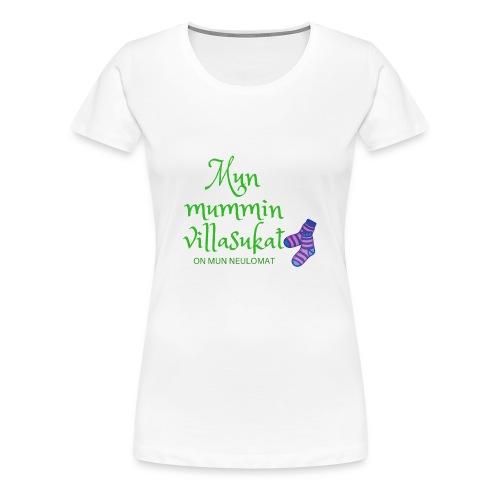 My woolen wool is my needlework - Women's Premium T-Shirt