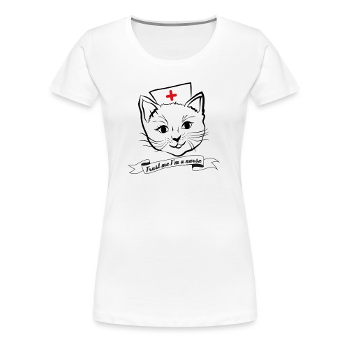 KrankenSisters Katze - Trust Me - Hoodie - Frauen Premium T-Shirt