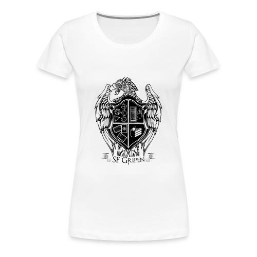SF Gripen Stor Logga - Premium-T-shirt dam