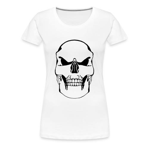 Vector Skull - Premium T-skjorte for kvinner